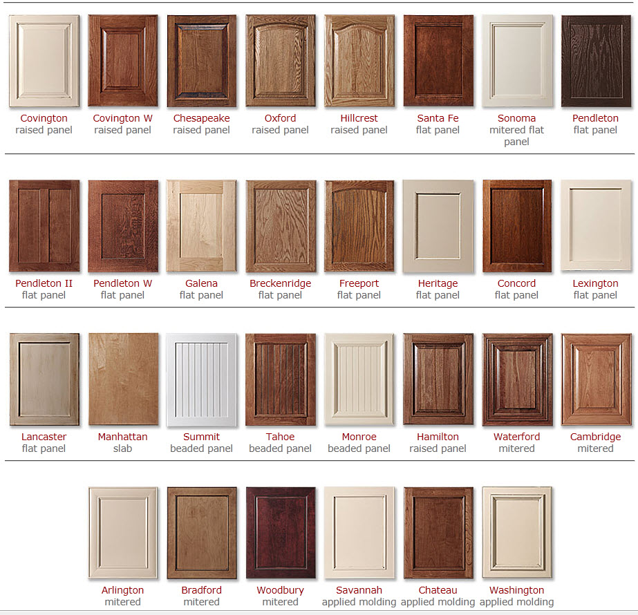 Cabinet colors choices 3 day kitchen bath custom for Kitchen cabinets styles